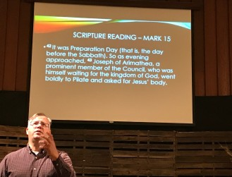 Scripture reading from Mark